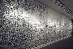 Artist creates Incredible Mural Paintings using only the Tips of her Fingers