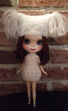 Custom White Blythe Hat For Susan by Wymzeeknit on Etsy, $20.00