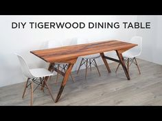 DIY Outdoor Dining Table Made out of Tigerwood - YouTube