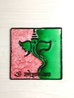 Ganesha Glass painting