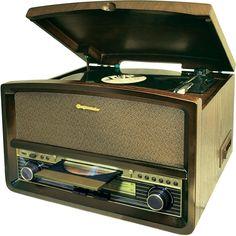 Platten-/Kassettenspieler, CD/MP3, MW/UKW Stereoradio  Encoding Funktion via USB von CD, Schallplatte und Kassette     Wiedergabe von MP3 über USB-Schnittstelle
