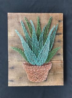 Cool And Contemporary aloe vera plant asda made easy String Art Templates, String Art Tutorials, String Art Patterns, Nail String Art, String Crafts, Diy Arts And Crafts, Crafts To Do, Diy Crafts, Thread Art
