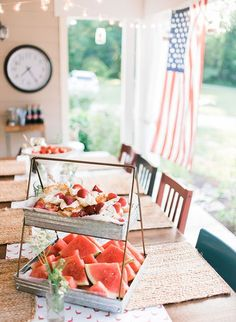 Vintage Americana Front Porch Party - Inspired By This 4th July Crafts, Fourth Of July Decor, Summer Porch, Summer Days, Porch Paint, Bbq Menu, Backyard Picnic, Porch Makeover, Summer Parties
