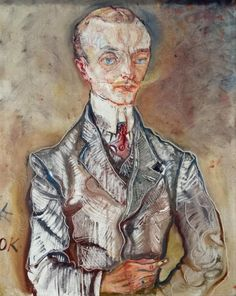 Portrait of Joseph de Montesquiou-Fezensac by Oskar Kokoschka (Austrian 1886-1980)....member of one of the oldest aristocratic families in Europe....