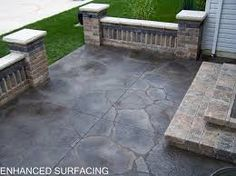 Image result for flagstone lined concrete
