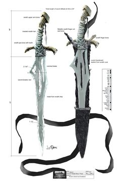 Wraith sword and scabbard (Stargate: Atlantis)