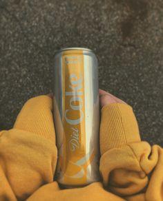 Diet Coke yellow aesthetic