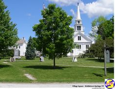 The Town Square in Middletown Springs, VT. Part of what makes small town USA (and Vermont in particular) such a fine place to live and a special place to visit. Rv Campgrounds, Mountain States, Green Mountain, Local History, Small Towns, Day Trips, Vermont, Golf Courses, Places To Visit