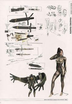 Beauty Beast Raging Raven from Metal Gear Solid 4 by Yoji Shinkawa