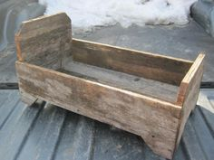 Rustic baby bed with side railings https://www.facebook.com/pages/Hemphill-Barn-Board-Wood-Crafts/182303841709