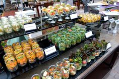 Guests can get their fill of veggies with a colorful display of individual…