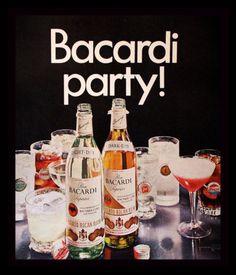 1969 Bacardi Rum Ad - Light - Dark - Vintage Liquor Advertising Page - 1960s 60s