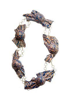 necklaces / BEATE KLOCKMANN-DE , Gold, Copper, Enamel