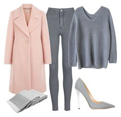 """""""Pink winter"""" by adancetovic ❤ liked on Polyvore featuring moda, Topshop, Hobbs, Jimmy Choo, women's clothing, women, female, woman, misses e juniors"""