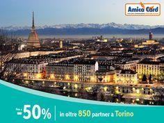 Risparmia a #Torino con Amica Card! Oltre 850 partner convenzionati tra avvocati, medici, ristoranti e imprese, sono pronti ad offrirti #sconti fino al 50%. Registrati ora e scarica gli sconti su AmicaCard.it #città #Italia #risparmio #AmicaCard #convenzioni