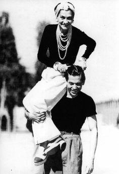 Coco Chanel & Serge Lifar (1937) #CocoChanel Visit espritdegabrielle.com   L'héritage de Coco Chanel #espritdegabrielle