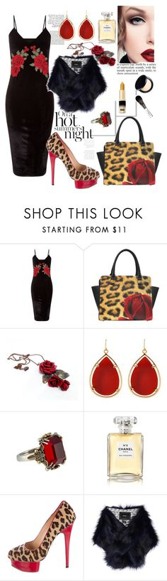 """""""Untitled #633"""" by csfshawn on Polyvore featuring Barse, Chanel, Charlotte Olympia, Unreal Fur and WALL"""
