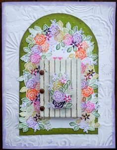 Oh my goodness! I LOVE this! What a great stamped spring card!