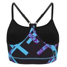 Brassière Sport Femme, Bleue/Violette: Image 2