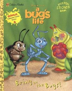 """Walt Disney's A Bug's Life """"Bring on the Bugs!"""" Coloring Book, 1998, Golden Books Pixar"""