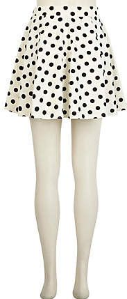 #River Island             #Skirt                    #Black #white #polka #skater #skirt #skater #skirts #skirts #women            Black and white polka dot skater skirt - skater skirts - skirts - women                                 http://www.seapai.com/product.aspx?PID=229510