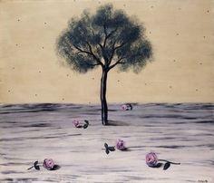 Les Fleurs du Voyage René Magritte (1926) Private collection Painting - oil on canvas