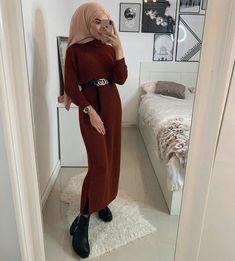 ▪PINTEREST: Aya MB• Muslim Dress, Hijab Dress, Hijab Outfit, Cool Outfits, Fashion Outfits, Fasion, Hijab Fashion Inspiration, Hijab Tutorial, Mode Hijab