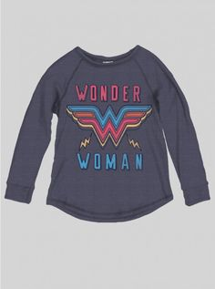 KIDS GIRLS WONDER WOMAN LONG SLEEVE