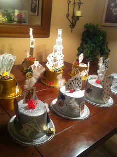 Casino party idea... decorated top hats!