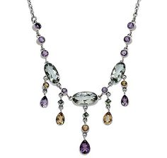 Nicky Butler Multi Gemstone Stationed Necklace
