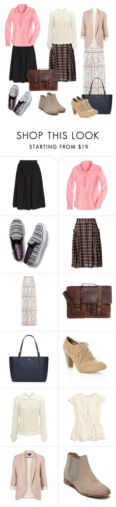 """""""3 teacher outfits💕"""" by loisanne ❤ liked on Polyvore featuring Dsquared2, J.Crew, Keds, Monsoon, Vilshenko, Tory Burch, Madewell, Topshop and Tommy Hilfiger"""