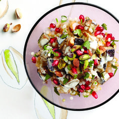 Pistachio and almond couscous: Superfood #recipe