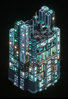 """This scene I did = 8 MagicaVoxel panels. Minecraft City, Minecraft Construction, Minecraft Designs, Minecraft Creations, Minecraft Projects, Minecraft Buildings, Isometric Art, Isometric Design, Cyberpunk City"