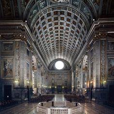 Leon Battista Alberti. Interior, S. Andrea. Mantua begun 1472