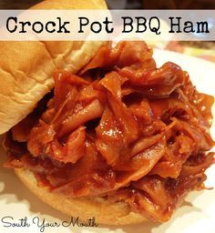 """Barbecued Ham Sandwiches {Crock Pot} >>>> """"I also am from Western Pennsylvania and my Grandma made these sandwiches all the time when I was growing up. I loved them and now I make them when I need a quick supper. She made them with chipped (you guys call it shaved in the south) chopped ham in the deli and exactly like yours only without the chili sauce. Now that I live in SC when I make these """"BBQ Sandwiches"""" ...."""