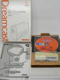 Sega Dreamcast LAN Broadband Adapter Boxed  #retrogaming #HotDC  with Manual HIT-0401 model from Japan. Sunfaded. Auction.