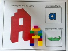 Lego letters are a fun and engaging way for students to practice the alphabet, while covering a variety of skills.  Students identify the letters, build a 3d letter, match the lowercase letter and a beginning sound picture. Based on students skills, you can have them complete one more all of the tasks. Includes the letter card mat and a lowercase letter and beginning sound match. Great addition to literacy centers that your students will love!!!