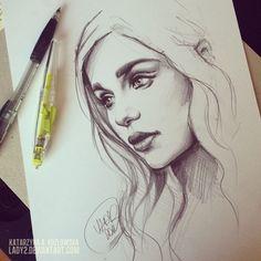 mother_of_dragons_sketch. by Lady2.deviantart.com on @deviantART