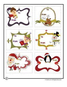 Printable Christmas Gift Tags Printable Christmas Tags - Retro Characters – Craft Jr.