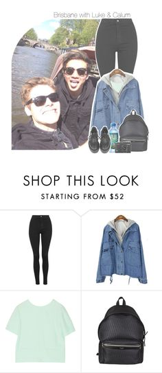 """Brisbane with Luke & Calum"" by antisocialmuke ❤ liked on Polyvore featuring Topshop, T By Alexander Wang and Yves Saint Laurent"