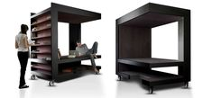 Luoto is multi-functional furniture for storage, working and relaxing