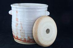 Fermentation Crock 3.5 Liters with Weight by MudslideStoneware