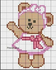 Cross Stitch Cards, Cross Stitch Baby, Cross Stitching, Cross Stitch Designs, Cross Stitch Patterns, C2c, Graph Design, Baby Afghan Crochet, Crochet Diagram