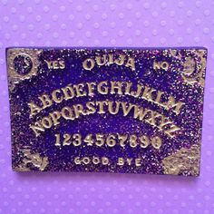 DISAPPEARING Ouija board glitter necklace Pastel by JinxAndCurses