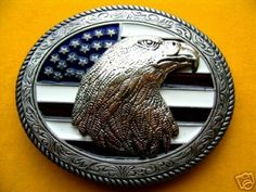 COOL GIFTS AMERICAN AMERICA FLAG OLD GLORY BELT BUCKLE