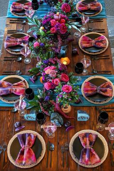 Vibrant Purple and Pink St. Wedding Table, Our Wedding, Dream Wedding, Wedding Reception Ideas, Jewel Tone Wedding, Wedding Colors, Magenta Wedding, Beautiful Table Settings, Whimsical Wedding