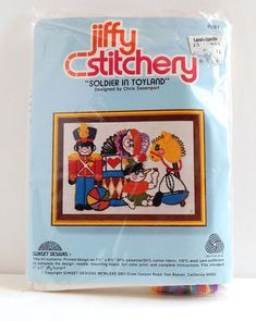 Vintage Jiffy Stitchery Soldier In Toyland #681 Crewel Embroidery Kit 5x7 Sealed #JiffyStitcherySunsetDesigns