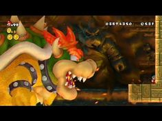 New Super Mario Bros. Wii 100% Walkthrough Finale - 8-Castle Final Boss ... Bowser, Mario, Fictional Characters, Fantasy Characters