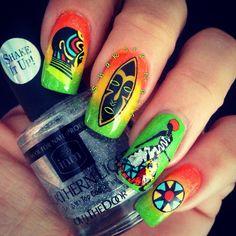 Geometric and africa nail art hey nice nails nailz by lisa hernandez prinsesfo Images