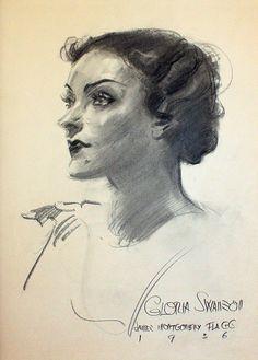 Grapefruit Moon Gallery: Gloria Swanson by James Montgomery Flagg